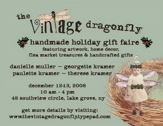 Vintage dragonfly holiday faire